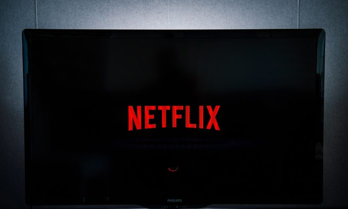 Netflix, on a television screen in Stockholm on Sept. 11, 2014. (JONATHAN NACKSTRAND/AFP/Getty Images)