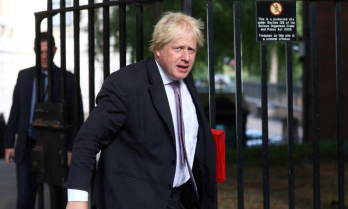 Britain's former Secretary of State for Foreign and Commonwealth Affairs Boris Johnson arrives at 10 Downing Street in London, Britain, July 3, 2018. (Reuters/Simon Dawson/File Photo)