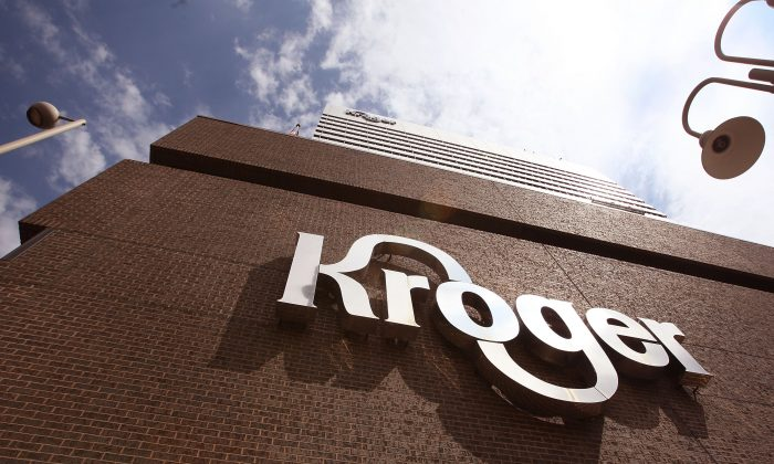 The Kroger Co. corporate headquarters on July 15, 2008, in downtown Cincinnati, Ohio. (Scott Olson/Getty Images)