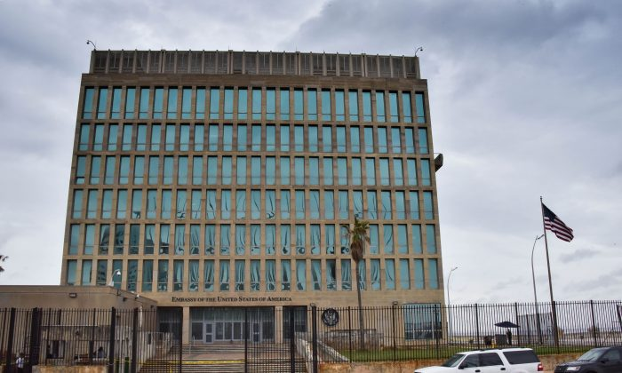 The U.S. Embassy, shortly after half its personnel suffered an alleged sonic weapon attack, in Havana, Cuba, on Sept.  29, 2017.. (Adalberto Roque/AFP/Getty Images)
