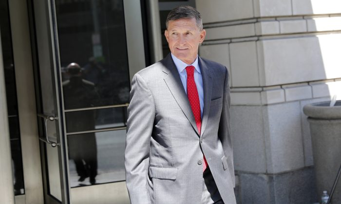 Michael Flynn, former National Security Adviser to President Donald Trump, departs the E. Barrett Prettyman United States Courthouse in Washington, D.C., on July 10, 2018. (Aaron P. Bernstein/Getty Images)