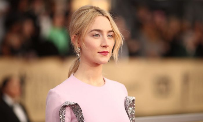 Actress Saoirse Ronan attends the 24th Annual Screen Actors Guild Awards at The Shrine Auditorium in Los Angeles on Jan. 21, 2018. (Photo by Christopher Polk/Getty Images for Turner)