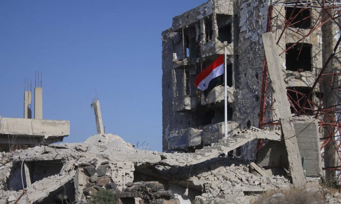 File photo of buildings in Syria damaged by the ongoing civil war. (MOHAMAD ABAZEED/AFP/Getty Images)