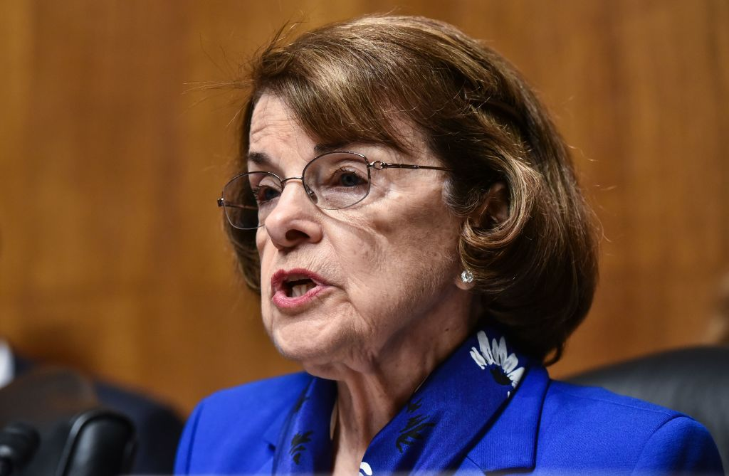 Senator Dianne Feinstein in the Dirksen Senate Office Building on Capitol Hill in Washington, D.C. on May 16, 2018. (MANDEL NGAN/AFP/Getty Images)
