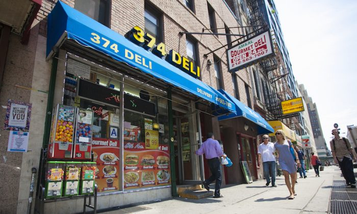 A deli in the Chelsea neighborhood in New York, July 8, 2014. Small companies like these are responsible for most of the job creation in America. (Samira Bouaou/Epoch Times)
