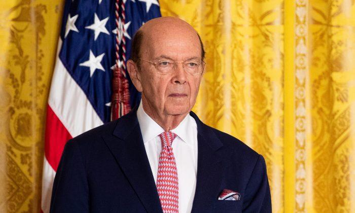 Commerce Secretary Wilbur Ross in the East Room of the White House on June 18, 2018. (Samira Bouaou/The Epoch Times)