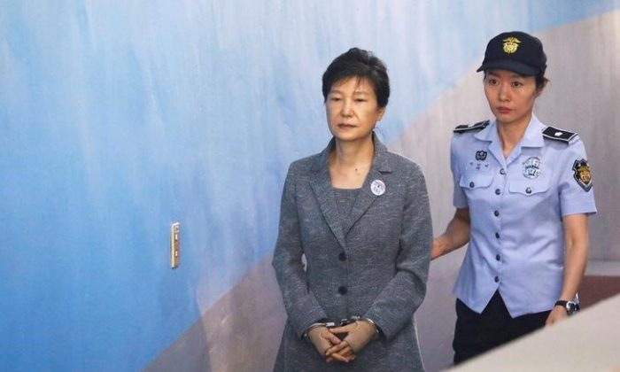 South Korean ousted leader Park Geun-hye arrives at a court in Seoul, South Korea, Aug, 25, 2017.   (Reuters/Kim Hong-Ji/File Photo)