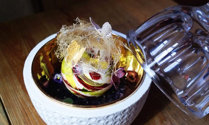 Baccarat's Bear Extraordinaire sundae. (Courtesy of Baccarat Hotel New York)