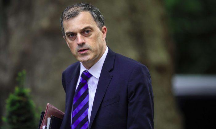 Conservative Party Chief Whip Julian Smith arrives for a Cabinet meeting at 10 Downing Street, on July 10, 2018, in London. (Jack Taylor/Getty Images)