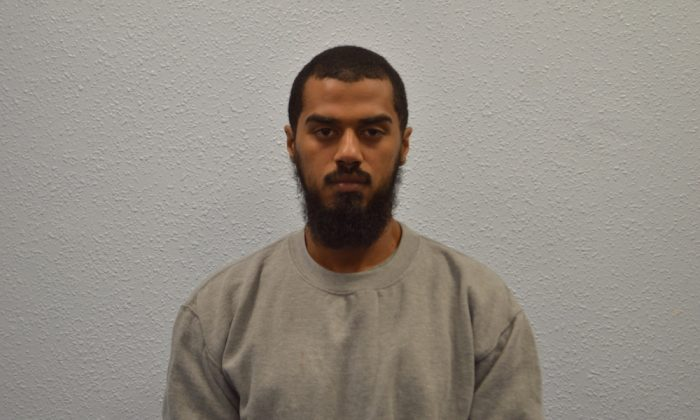 Khaled Ali, a British man who had made bombs for the Taliban in Afghanistan and was plotting an attack near London's parliament was jailed for life with a minimum term of 40 years at the Old Bailey court on July 20, 2018. (UK Metropolitan Police)