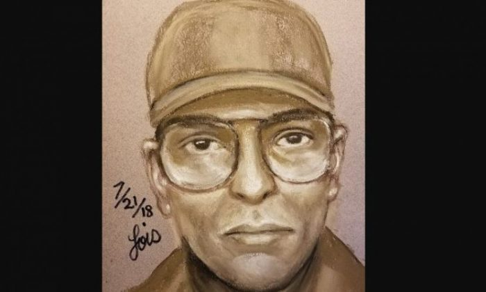 A sketch of the suspect in the murder of Dr. Mark Hausknecht. (Houston Police Department)