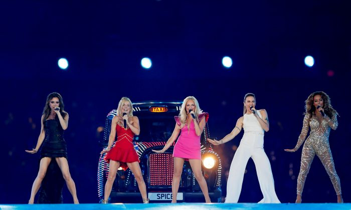 The Spice Girls perform during the closing ceremony of the London 2012 Olympic Games at the Olympic Stadium, August 12, 2012. (REUTERS/Stefan Wermuth/File Photo)