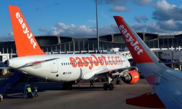 An EasyJet airplane is seen on the tarmac  at the Charles De Gaulle airport in Paris, France, Apr.10, 2018.  (REUTERS/Stefano Rellandini/File Photo)