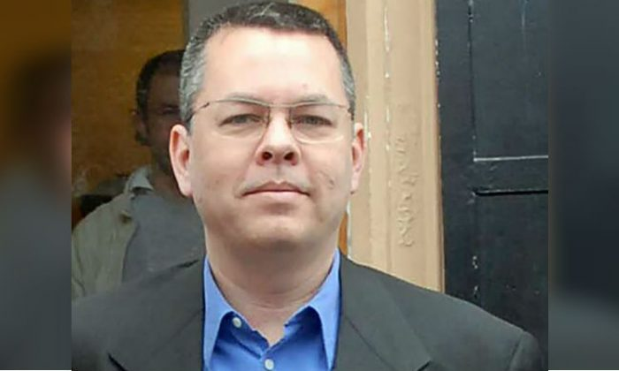 American Pastor Andrew Brunson was reportedly released from prison July 25, 2018, and placed on house arrest while awaiting an October trial in Turkey. (STR/AFP/Getty Images)