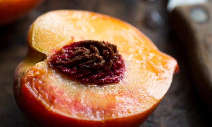 "Perfectly ripe, ""pie-worthy"" peaches from Frog Hollow Farm in Brentwood, Calif. (Andrew Scrivani)"