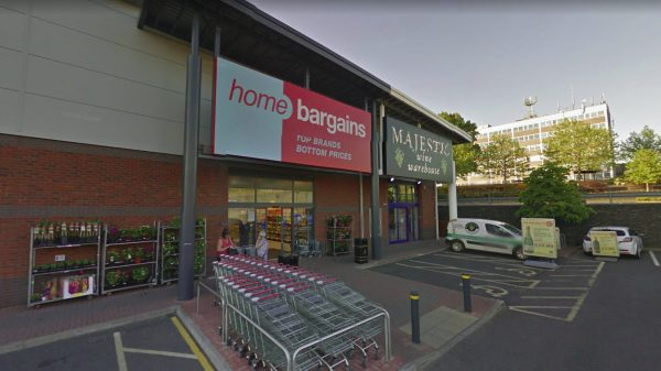 The Home Bargains store in Worcester, West Midlands, where the attack took place on July 21, 2018. (Screenshot via Google)