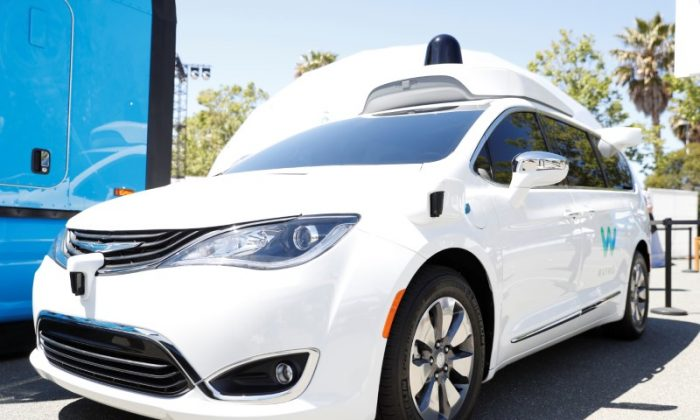 A Waymo self-driving car is seen during the annual Google I/O developers conference in Mountain View, California on May 8, 2018. (Reuters/ Stephen Lam)