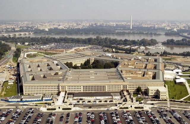 Aerial photo of the Pentagon in Arlington, Virgina on Sept. 26, 2003.  (Photo by Andy Dunaway/USAF via Getty Images)