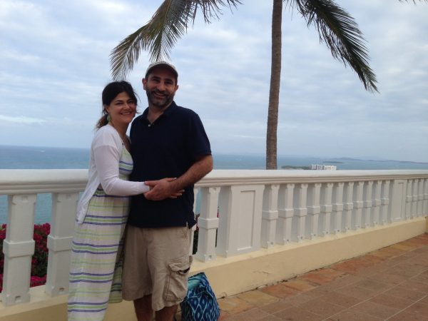 Stern in Puerto Rico with her Husband Michael