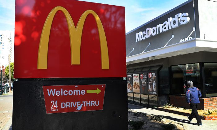 McDonald's has replaced all the tainted salad mixes and its products are now safe to eat, says CEO Steve Easterbrook on July 27, 2018. (Justin Sullivan/Getty Images)