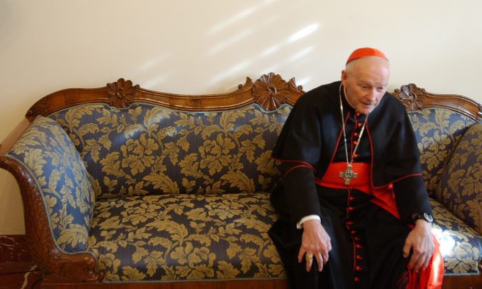 File photo of Cardinal Theodore McCarrick shown here at the North American College April 5, 2005, in Rome. (Marco Di Lauro/Getty Images)