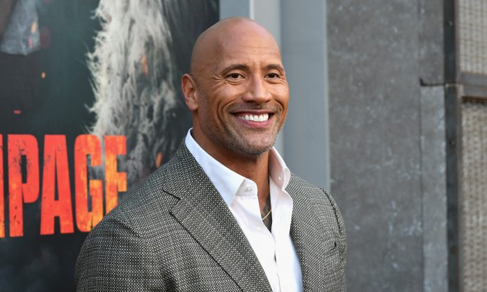 "Dwayne Johnson attends the premiere of ""Rampage"" on April 4, 2018, in Los Angeles, California. (Kevin Winter/Getty Images)"