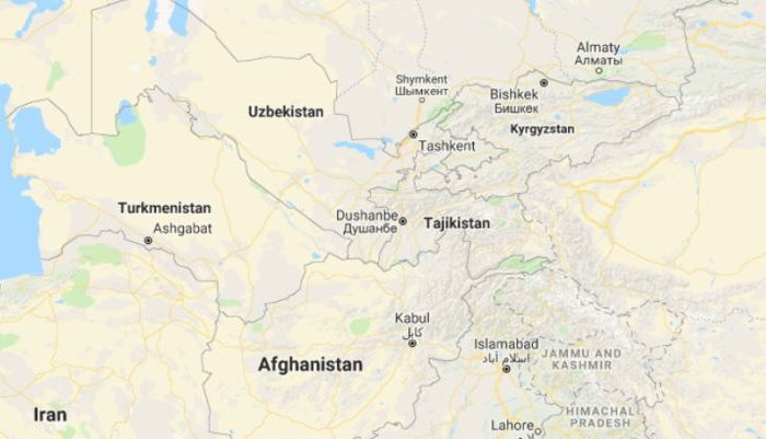 Two American cyclists and two others were killed in the Central Asian country of Tajikistan on Sunday when a car hit them before fleeing the scene, reports said. (Google Maps)