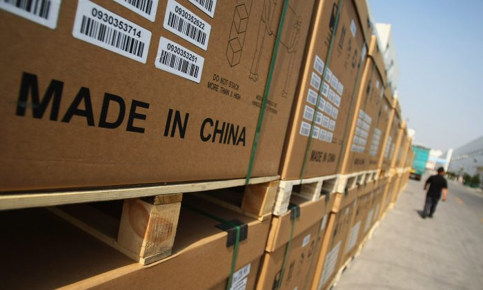 Photoelectric board products at a manufacturing plant in Baoding City, Hebei Province, on June 24, 2009. (Feng Li/Getty Images)