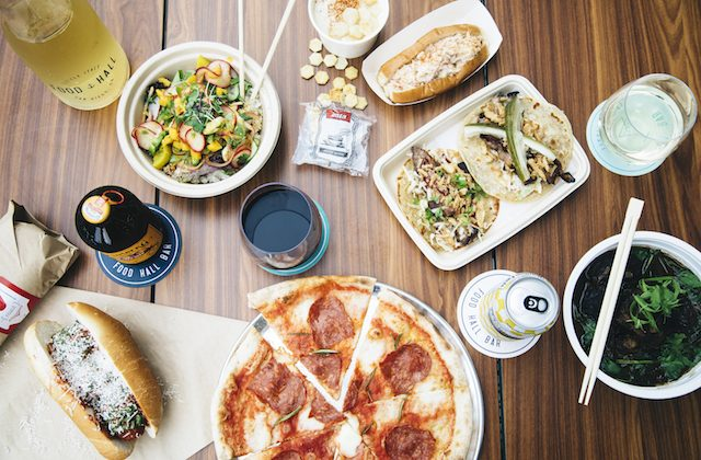 Some of the varied offerings at the new Little Italy Food Hall in San Diego, Calif. (Courtesy of Little Italy Food Hall)