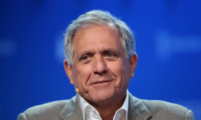 Leslie Moonves, Chairman and CEO, CBS Corporation, speaks during the Milken Institute Global Conference in Beverly Hills, California, U.S., May 3, 2017. (Reuters/Lucy Nicholson)