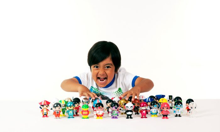 Ryan, the star of the YouTube channel Ryan ToysReview, will be launching his own line of toys in Walmart next month. (Courtesy of pocket.watch/Handout via Reuters)