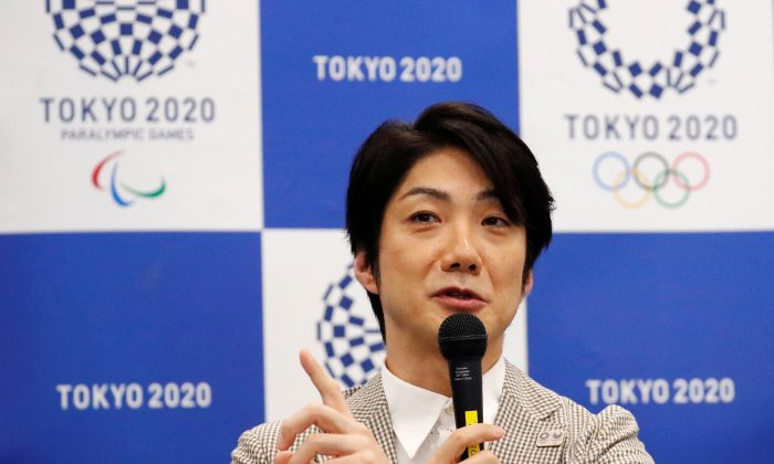 Tokyo 2020 Olympic and Paralympic Games Chief Executive Creative Director of the opening and closing ceremonies, Mansai Nomura, a famed stage actor and film director also known for his training in a thousand year old Japanese comic theatre, Kyogen, attends a news conferece in Tokyo, Japan July 31, 2018  (Reuters/Toru Hanai).