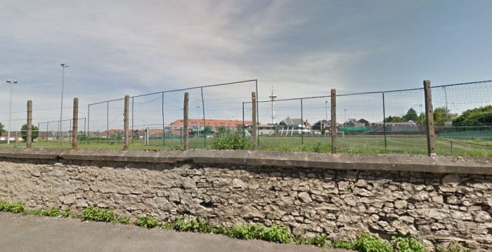 A man reportedly blew himself up in an empty association football field in Belgium on July 31. (Google Street Views)