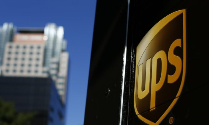 A United Parcel Service (UPS) truck on delivery is pictured in downtown Los Angeles, California October 29, 2014. (REUTERS/Mike Blake)