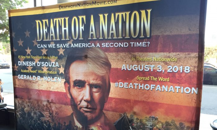 "The film ""Death of a Nation"" prescreened in Los Angeles, on July 30. (Sarah Le/The Epoch Times)"