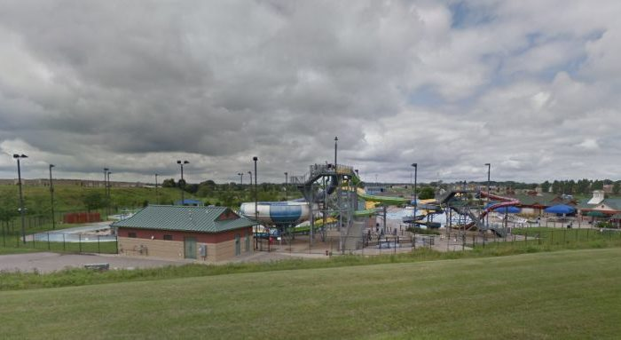 An 8-year-old boy said that he was pushed by a man from a waterslide platform, falling 30 feet to the concrete below in Minnesota on Aug. 1. (Google Maps)