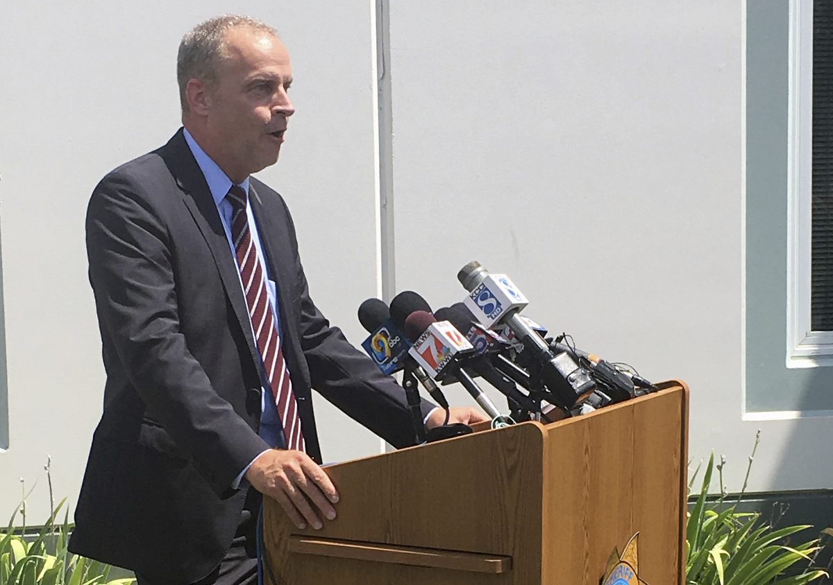 Kevin Winker of the Iowa Division of Criminal Investigation speaks about the disappearance of 20-year-old Iowa college student Mollie Tibbetts during a news conference Tuesday, July 31, 2018, in Montezuma, Iowa. Winker says investigators are pursuing every possible lead but haven't determined why Tibbetts went missing on July 18. (AP/Ryan J. Foley)