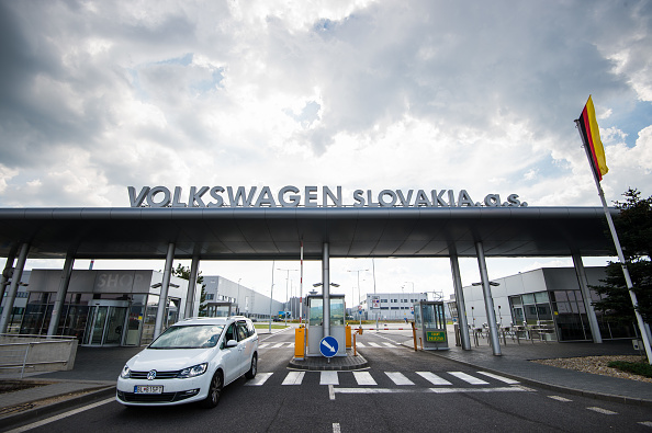 This picture taken on July 28, 2018 shows a Volkswagen construction plant in Bratislava, Slovakia.  (Photo by VLADIMIR SIMICEK / AFP)        (Photo credit should read VLADIMIR SIMICEK/AFP/Getty Images)