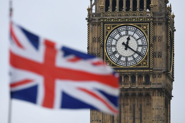 A Union flag flies near Big Ben,
