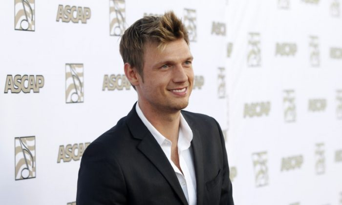 Nick Carter of the Backstreet Boys poses at 30th annual ASCAP Pop Music Awards in Hollywood, California April 17, 2013. (Reuters/Mario Anzuoni)