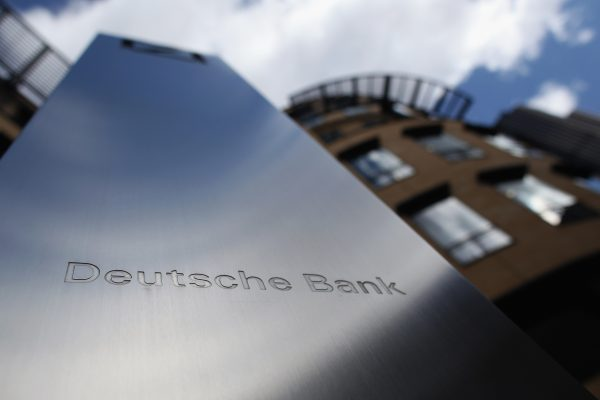 A general view of Deutsche Bank on Sept. 5, 2011 in London, England.