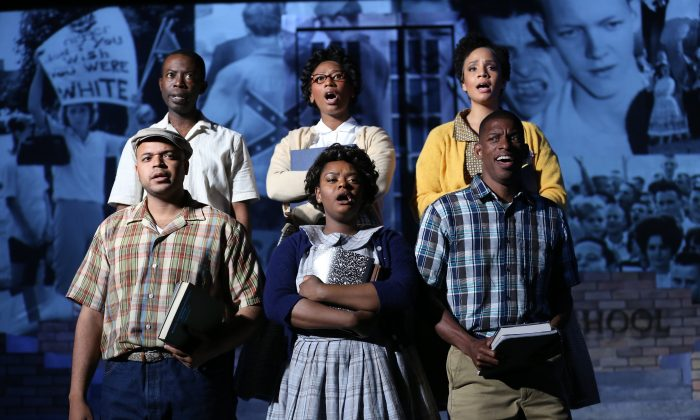 "The cast of ""Little Rock,"" a new musical, now at New York's Sheen Center for Culture and Thought. (Carol Rosegg)"