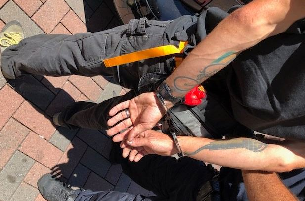 The Berkeley Police Department arrested 20 people on August 5, 2018, during a clash between Antifa and rival groups. (Berkeley Police Department)