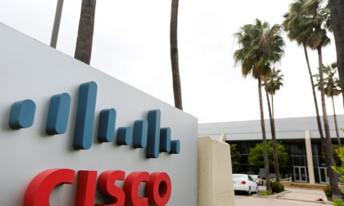 A Cisco Systems sign is seen outside a Cisco health clinic at Cisco Systems in San Jose, California, U.S., March 22, 2018. REUTERS/Elijah Nouvelage