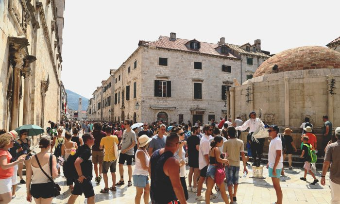 People on Stradun street in Dubrovnik, Croatia, on Aug. 2. (REUTERS/Antonio Bronic)