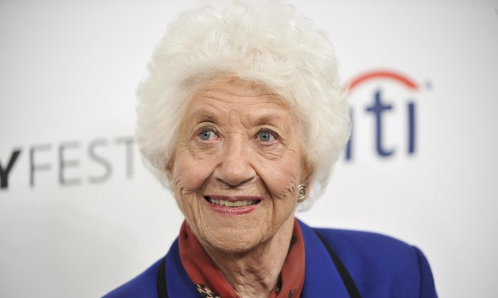 "Charlotte Rae arrives at the 2014 PALEYFEST Fall TV Previews - ""The Facts of Life"" Reunion in Beverly Hills, Calif., on Sept. 15, 2014 (Richard Shotwell/Invision/AP)"