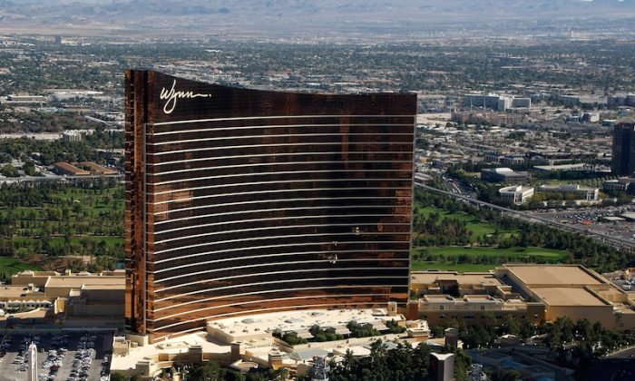 An aerial view of the Wynn Las Vegas on Nov. 6, 2008. (Ethan Miller/Getty Images)