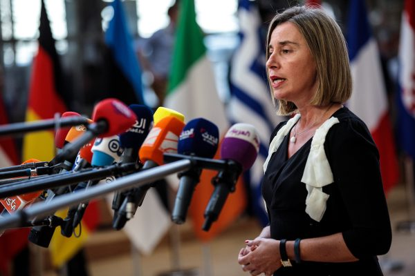 High Representative of the EU for Foreign Affairs and Security Policy, and Vice President of the European Commission Federica Mogherini arrives at the Council of the European Union on the first day of the European Council leaders' summit on June 28, 2018 in Brussels, Belgium. (Jack Taylor/Getty Images)