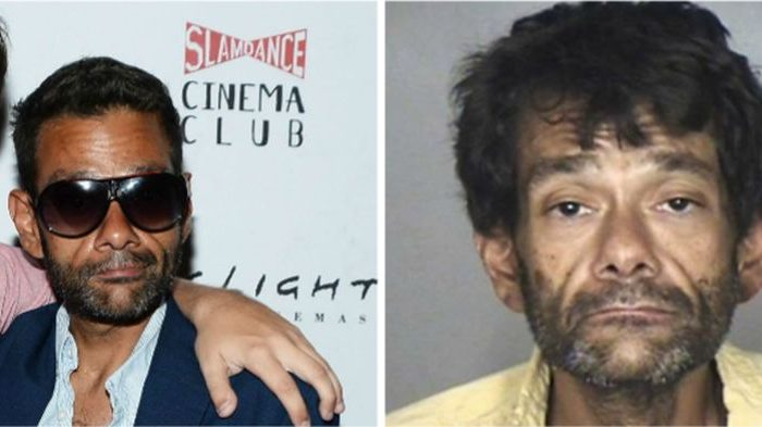"""Mighty Ducks"""" star Shaun Weiss, seen left in a 2015 photo, was arrested for public intoxication on Aug. 7, 2018. (Matt Winkelmeyer/Getty Images; Oroville Police Department)"""