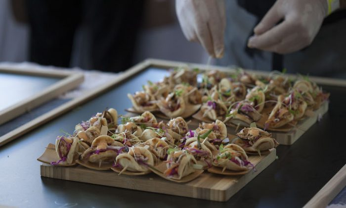 Bites at the Grand Tasting tent. (Sara Luckey/Courtesy of 2017 Greenwich Wine + Food Festival)
